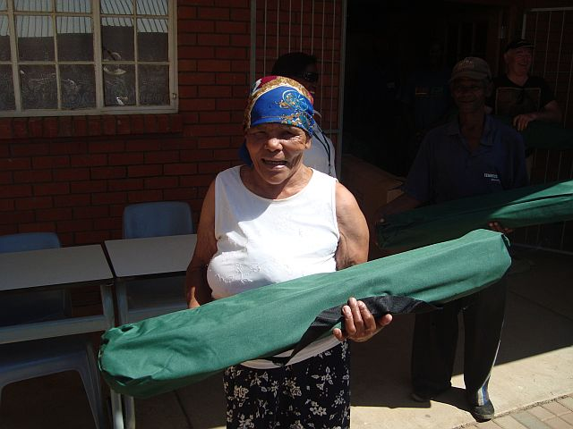 The most needy in Missionvale Township were the first to receive their beds